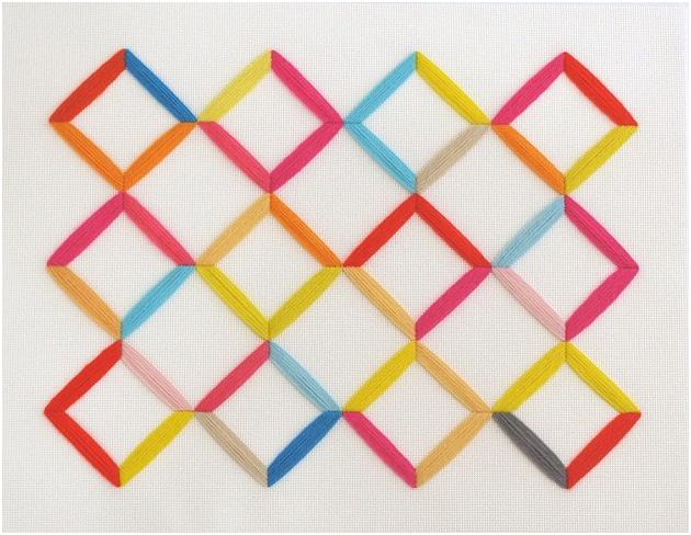 Jane Denton stickt geometrisch