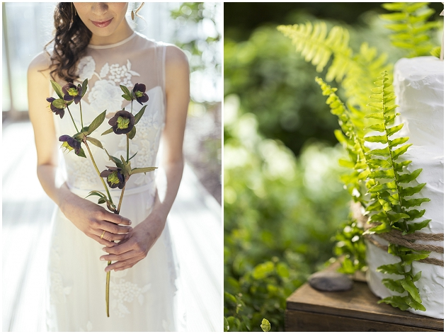 green wedding with fern