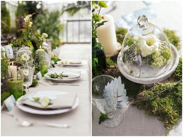 Hochzeits Trend Greenery mit Pflanzen