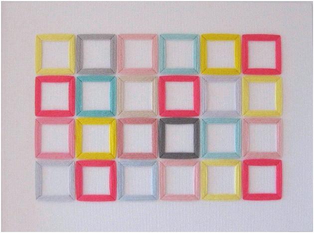 bunte Quadrate sticken