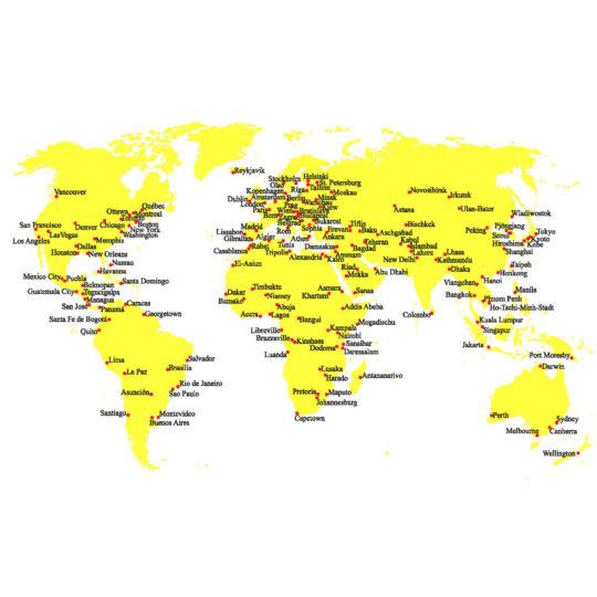 Postkarte Weltkarte zum Sticken