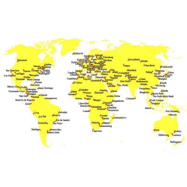 Postkarte mit Welt zum Sticken