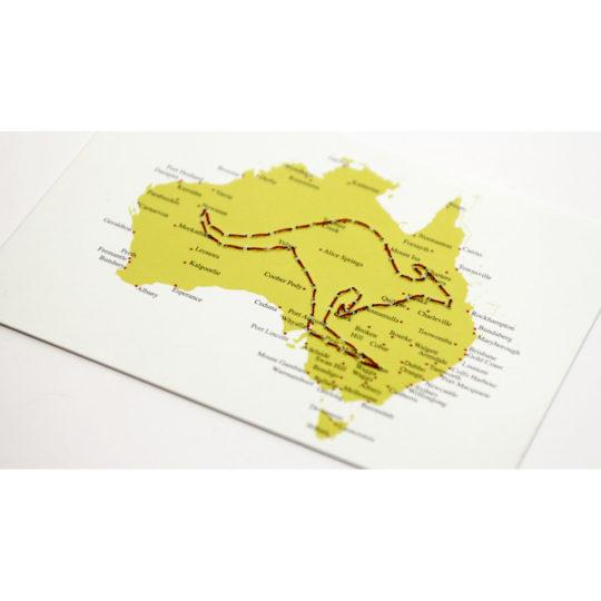 Postkarte Australien zum Sticken