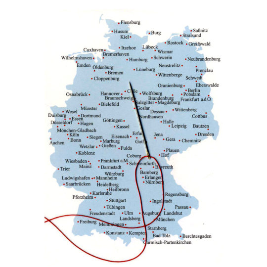 Postkarte Deutschland zum Sticken