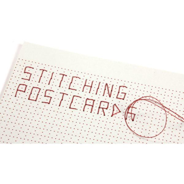 Postkarte besticken mit eigenem Motiv