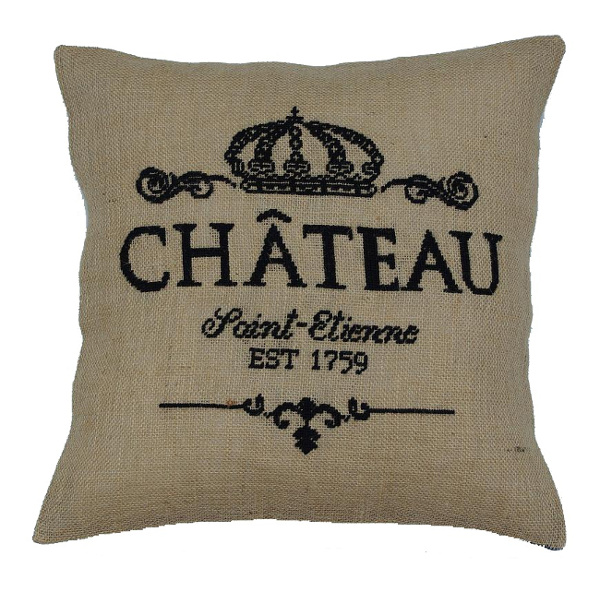 Stickvorlage Chateau franzoesischer Schriftzug