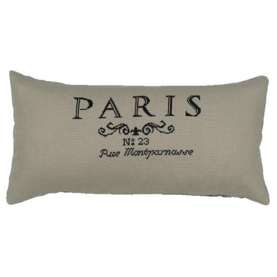 Stickvorlage Paris Vintage antik