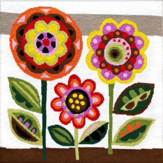 Tapisserie Blumen Retro skandinavisch