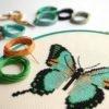 Schmetterling Stickpackung von Floss & Mischief
