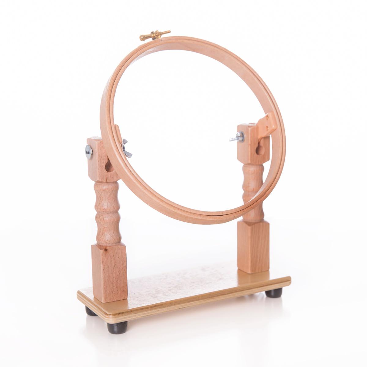 Tisch-Stickrahmen bzw. Stickring aus Holz zum Aufstellen