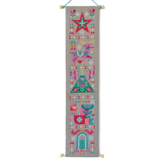 Modernes Weihnachts-Banner für Kreuzstich