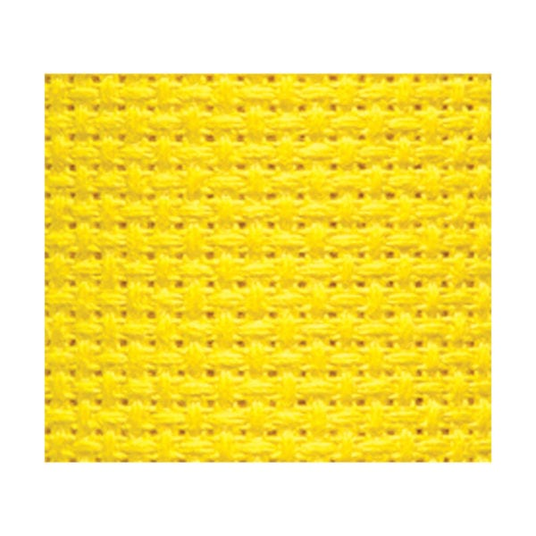 Aida-Stoff in knalligem Gelb von Charles Craft