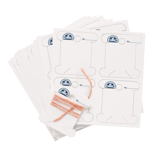 Garnwickelkarten bzw. Bobbins für Stickgarn