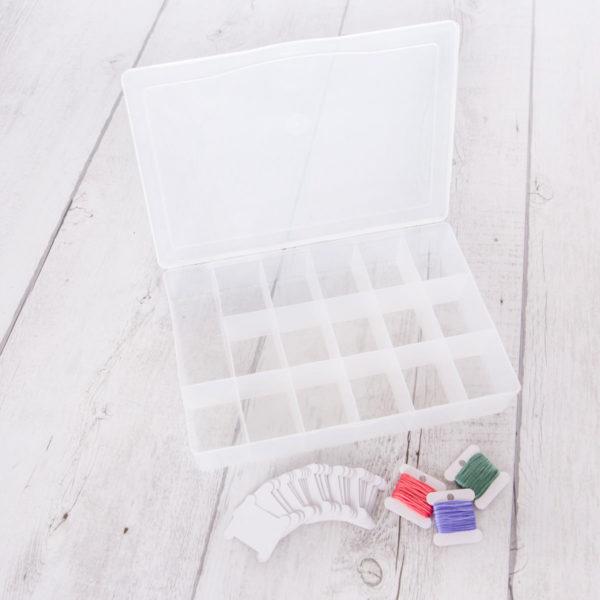 Aufbewahrungsbox für Stickgarn und Bobbins