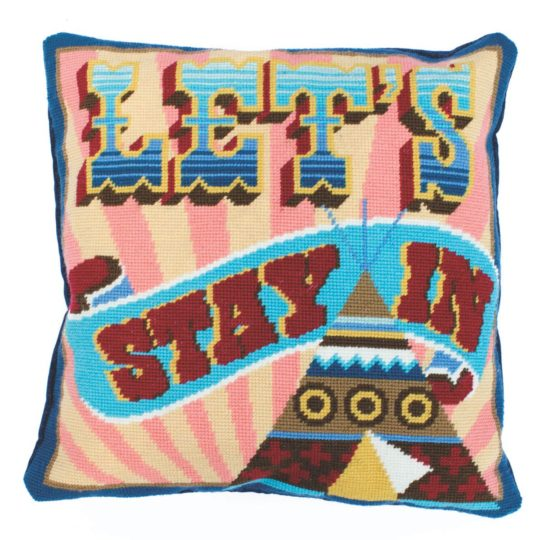 Let's stay in - Cushion bzw. Kissen sticken