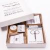 Handarbeits-Kiste mit Zubehör fürs Sticken