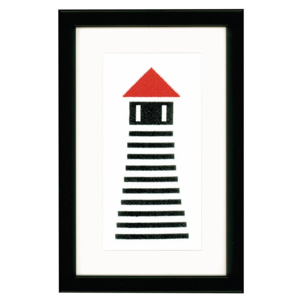 Stickvorlage Leuchtturm modern