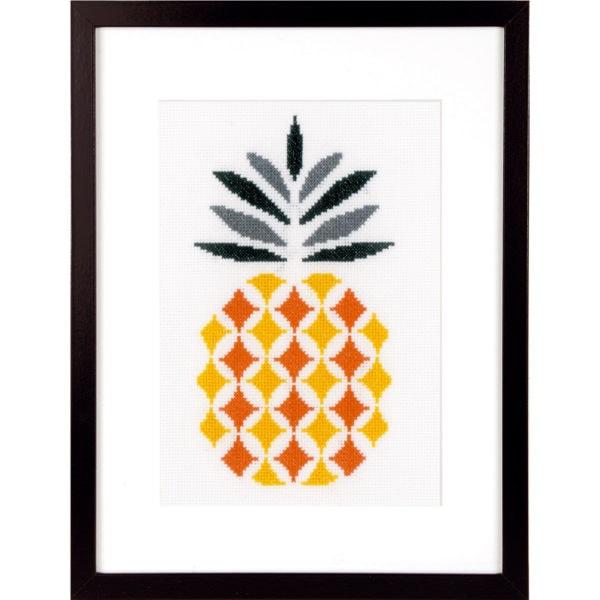 Stickmuster Ananas geometrisch