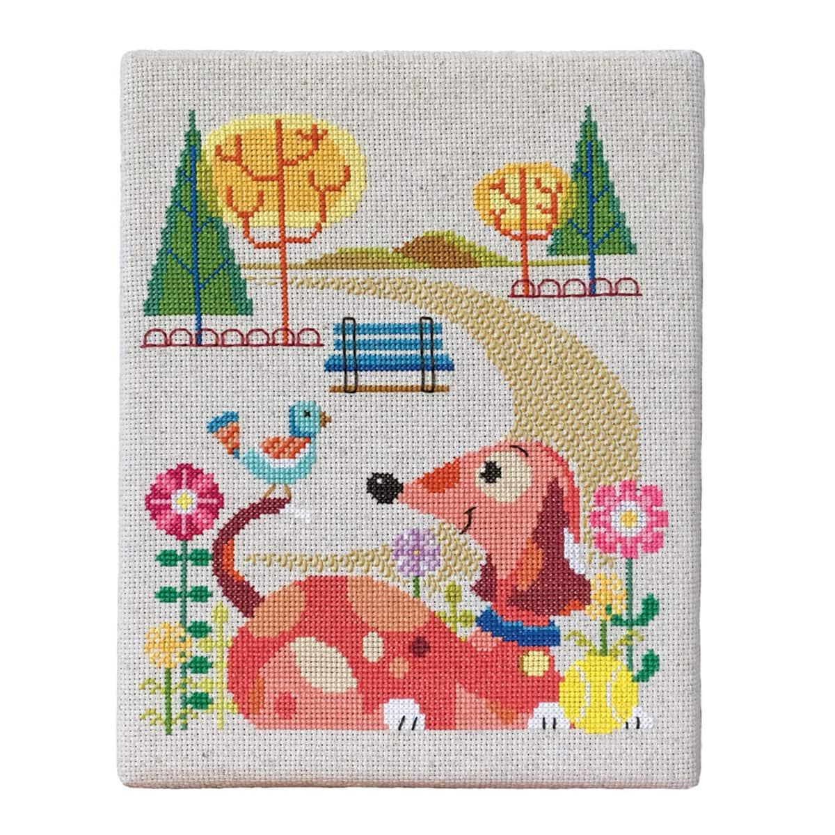 Fancy Hund Stickmuster Sketch - Decke Stricken Muster ...
