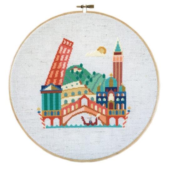 Stickbild Rom, Venedig, Pisa und Italien