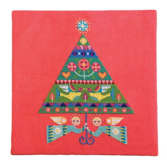 Stickbild moderner Weihnachtsbaum für Kreuzstich