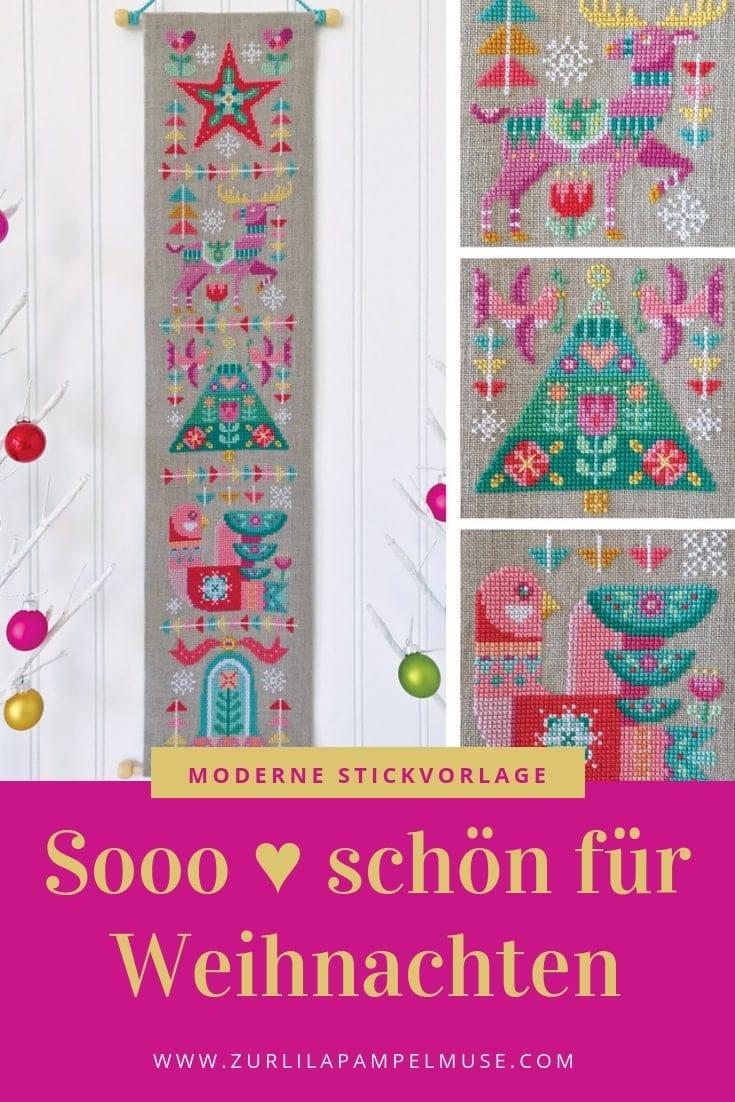 Weihnachtsdeko Lila.Weihnachtsdeko Modern Sticken Zur Lila Pampelmuse