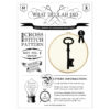 Stickbild historischer Schlüssel für Kreuzstich