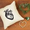 Kissen mit echtem, medizinischem Herz