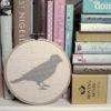 Vogel Silhouette Scherenschnitt sticken