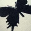 Schmetterling in Schwarz für Kreuzstich