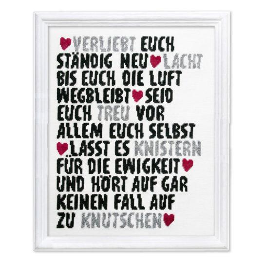 Stickmuster Liebe, Ehe, Hochzeit von Schrägstich Design