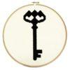 Stickmuster Schlüssel im Vintage-Stil