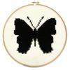 Stickmuster Schmetterling Kreuzstich