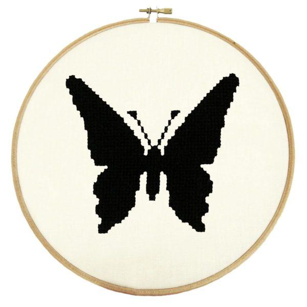 Stickmuster Schmetterling groß