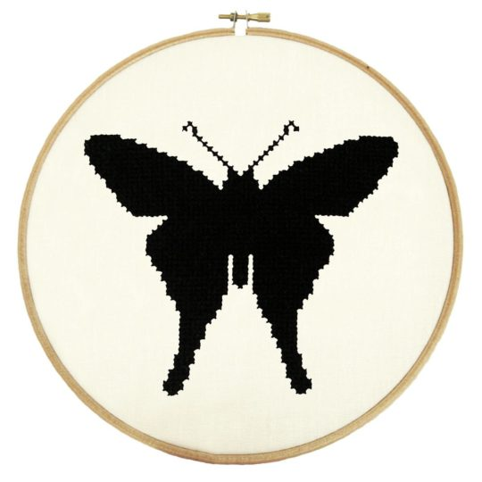 Stickmuster Schmetterling einfach