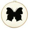 Stickmuster Zauberer Schmetterling