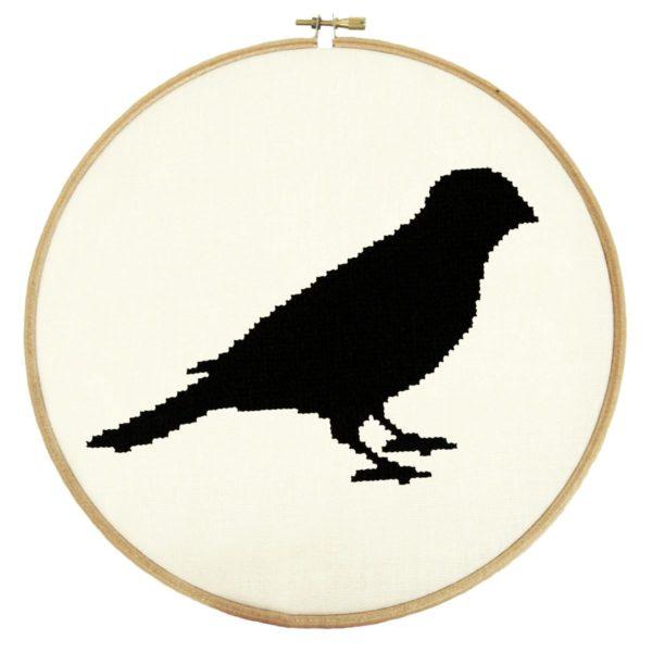 Stickmuster Vogel einfach