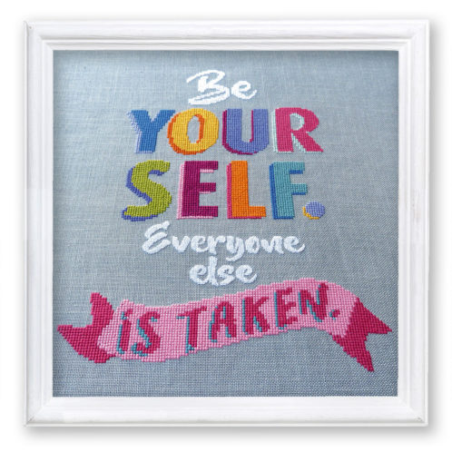 Stickmuster Be Yourself von Schrägstich Design