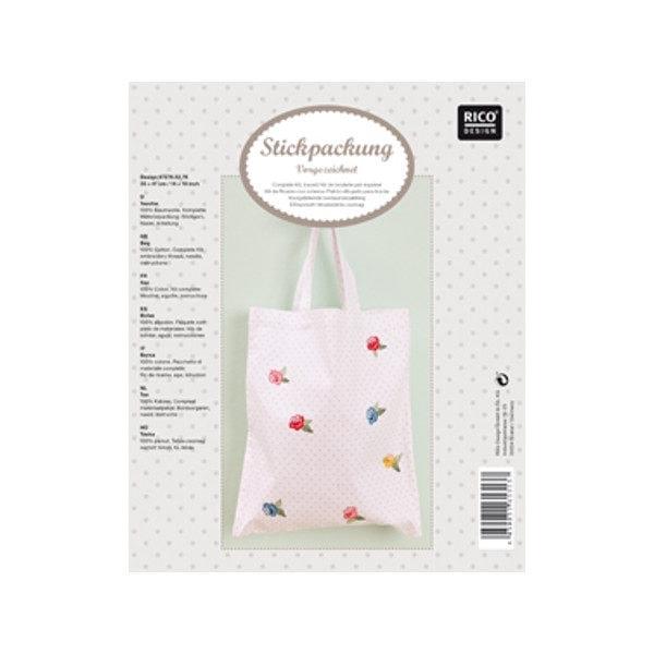 Einkaufstasche mit Polka Dot Muster in rosa
