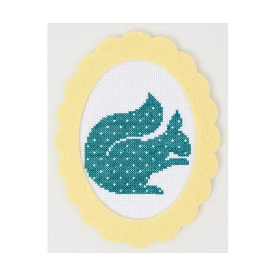 Stickvorlage Eichhörnchen für Kreuzstich