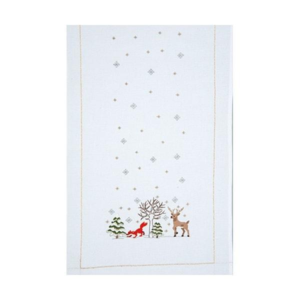 Tischläufer Weihnachten und Winter im Kreuzstich besticken