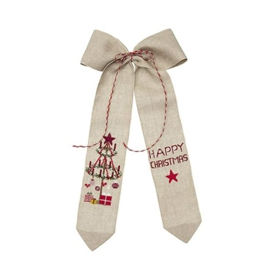 Stickbild Weihnachten mit Adventskranz Kreuzstich