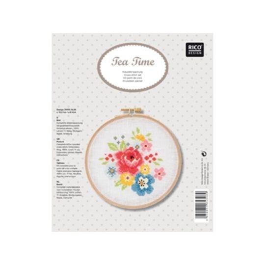 Bunte Blumen Stickpackung von Rico Design