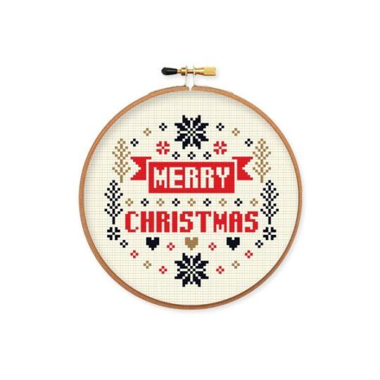 Stickmuster Weihnachten Kreuzstich