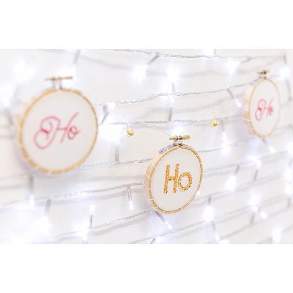 Weihnachten Girlande Stickmuster Hohoho