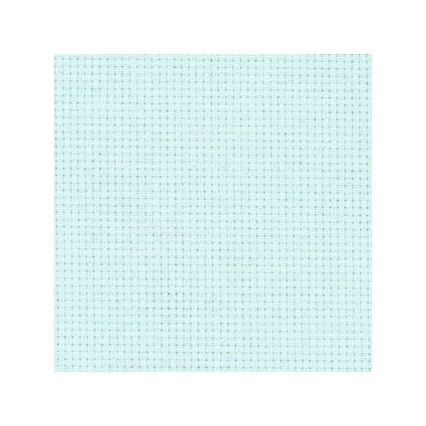 Stoff zum Sticken in Kreuzstich in Eis Blau