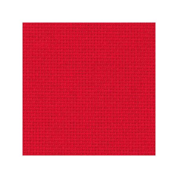 Stoff zum Sticken in Kreuzstich in rot