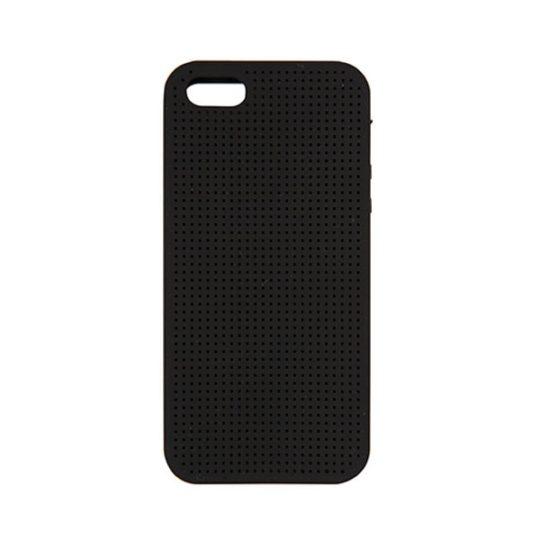 iphone case in Schwarz mit Löchern zum Besticken