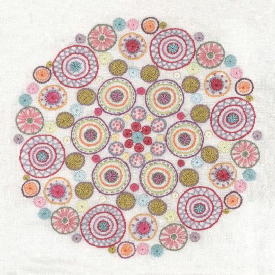 Stickpackung für ein Mandala mit Kreisen