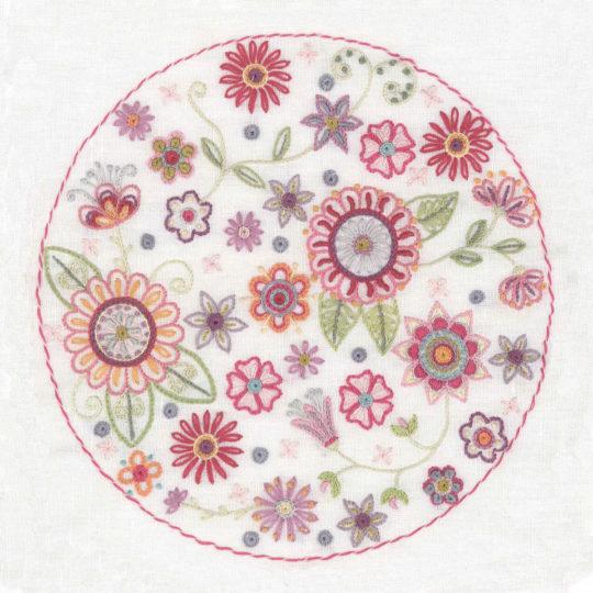 Mandala mit vielen Blumen wie ein Sommergarten